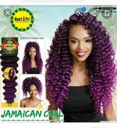 Jamaican Curl Kanekalon and Toyokalon Crochet Braid Hair by RastAfri - Waba Hair and Beauty Supply Messy Bun Hairstyles, Crochet Braids Hairstyles, Braided Hairstyles Tutorials, Party Hairstyles, Hair Tutorials, Long Hairstyles, Wedding Hairstyles, Crochet Hair Brands, Crochet Hair Styles
