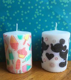 Candele personalizzate Disney and Ice cream di FrancisShopItalia