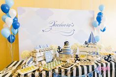 100th Day Nautical Birthday Party | CatchMyParty.com