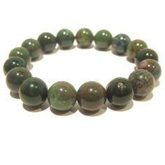 Bloodstone Bracelet 04 Stretch 12mm Green Gemstone Crystal Healing Round Beaded I Dig Crystals. $45.00. Limited-Edition: handmade gifts made in USA, may vary slightly from pictures. Measures: approx 12mm beads (comes in size MEDIUM unless otherwise requested). Stone Properties: Bloodstone aids circulation. Chakra Balancing: Heart. Art Jewelry: natural bloodstone gemstone stretch bracelet