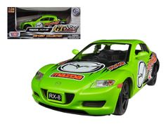 Mazda RX-8 Green #5 GT Racing 1/24 Diecast Car Model by Motormax - Brand new 1:24 scale diecast model car of Mazda RX-8 Green #5 GT Racing die cast model car by Motormax. Brand new box. Rubber tires. Made of diecast. Has opening hood and doors. Detailed interior, exterior. Dimensions approximately L-8, W-3.5, H-3 inches. Please note that manufacturer may change packing box at anytime. Product will stay exactly the same.-Weight: 2. Height: 6. Width: 11. Box Weight: 2. Box Width: 11. Box…