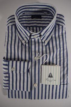 FINAMORE camicia UOMO sartoriale casual 100% COTONE righe P/E tg. M-L-XL-3XL NWT