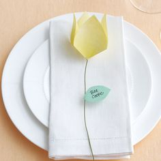 Slender tulips tell guests exactly where to plant themselves.