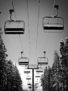 Chairlifts. #snowboarding
