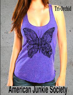BUTTERFLY Tshirt print butterfly image design by AmericanJunkieSoc