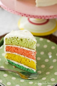 Lovely colored cake.