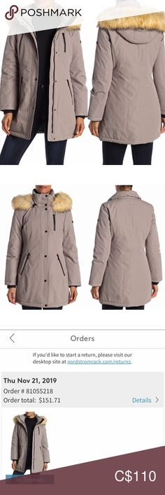Tahari Whitney Windproof Faux Fur Trim Parka S Winter Clothes, Winter Outfits, Warm Grey, Fur Trim, Nordstrom Rack, Parka, Cheers, Plus Fashion, Fashion Trends