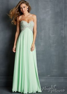 long flowy prom dresses | Home :: Prom Dress 2015 :: Night Moves :: Flowy Lime Strapless Chiffon ...