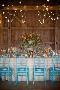Twinkling lights- Dinner Party in the Country