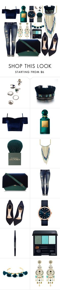 """Teal & Navy 👖👗"" by marianandrwos ❤ liked on Polyvore featuring Forever 21, Boohoo, Tom Ford, MAC Cosmetics, Givenchy, Mavi, Christian Dior, Marc Jacobs, Smashbox and Shiseido"