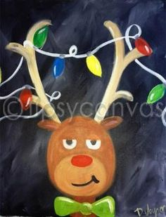 Easy Christmas Paintings on Canvas Images and Pictures - Becuo - Quick, Easy, Cheap and Free DIY Crafts Christmas Paintings On Canvas, Christmas Canvas, Christmas Projects, Christmas Art, Holiday Crafts, Christmas Decorations, Holiday Canvas, Christmas Images, Easy Canvas Painting