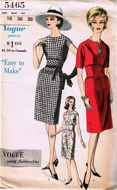 Vogue Sewing Patterns | Vogue 5465 - Vintage Sewing Patterns