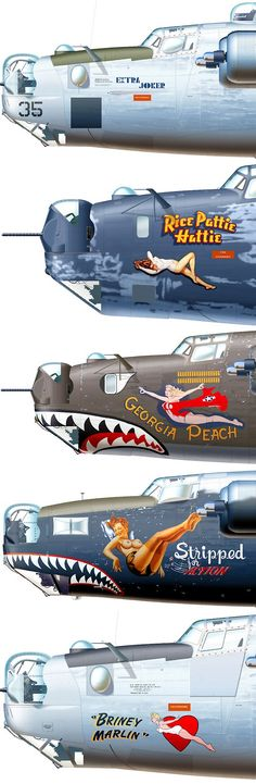 "3Hƒ0® | #Dlikes | B-24 Bomber Planes - Nose Art | ""A pilot in the Flying Tigers flew one called ToughTitty """