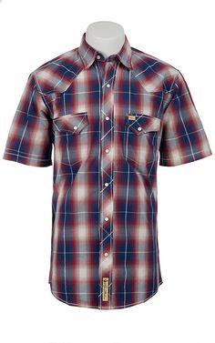 Larry Mahan Men's Short Sleeve Western Snap Shirt Work Shirts, Jean Shirts, Denim Shirt, Country Shirts, Western Shirts, Cowboys Shirt, Cowboy Outfits, Arnold House, Checked Shirts