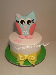 3D Owl Cake | Baby Shower Cake | Sweet-Ness Creations