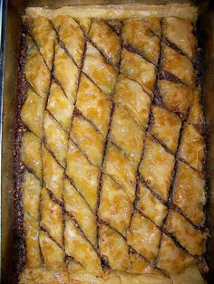 Susannah's Kitchen: Recipe | Greek Baklava with Nuts & Honey | Recipe, Discount Retro Vintage Aprons, Top Kitchen Gadgets, Recipes, Gifts, Products, Party, Holiday, Wedding, Chicken, Peanut Butter, Pumpkin, Appetizers, Breakfast, Cupcakes, Desserts, DIY, Style, Comfort, Mexican, Food, Healthy, Favorites, Best, Delicious, Yum, Yummy, Nom Nom, Ultimate,