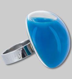 PYLONES - Dome ring MILK bleu clair