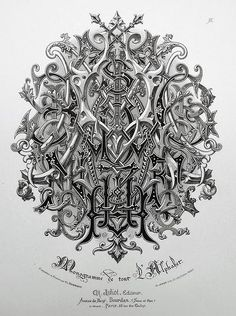 Typeverything.com Monogram of the entire alphabet by Charles...