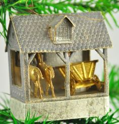 German Dresden Stable Christmas Tree Ornament