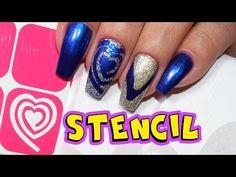 Como Usar Stencil para Unhas | TUTORIAL | Unhas da Lalá - YouTube