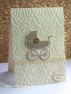 Stampin' Up! Something for Baby Card by Angela Sargeant