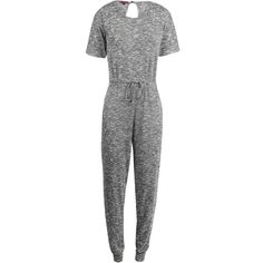 In A Cinch Jumpsuit ($20) ❤ liked on Polyvore featuring jumpsuits, short sleeve jumpsuit, white jump suit, white jumpsuit and jump suit