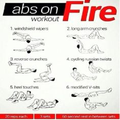 Great ab workouts! Targets more than just regular sit ups :)