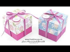SpringWatch 2018 4 Cube Box Tutorial with Reinforced Lid using Sweet Soiree - YouTube