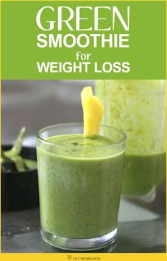 Spinach – Pineapple Smoothie for Weight Loss:  Spinach has phytonutrients that boost up the body's immune system and helps for its proper functioning.