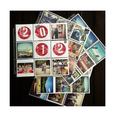 Organize your 4x4 Instagram Prints into 4x4 sheet protectors to highlight the year. Printed at Persnickety Prints.