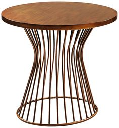 mercer bronze patina oval end table.
