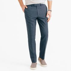 Bowery classic pant in cotton-linen : Bowery pants | J.Crew