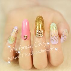 Aliexpress.com : Buy Free Shipping High quality wave long design finger false nail,Glitter nail extension tips,decor full cover fake nails on Jessie's shop. $9.89