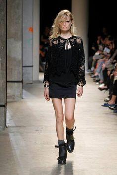 Zadig & Voltaire Spring-Summer 2014 Fashion Show #ParisFashionWeek #Zadig #zadigetvoltaire #black #lace