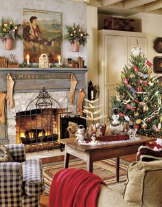 cozy Christmas living room!