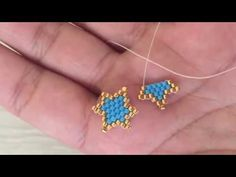 Two-color tiny star production with brick technique - new season bijouterie Beaded Jewelry Patterns, Bracelet Patterns, Beading Patterns, Diy Crafts Jewelry, Bracelet Crafts, Bead Jewellery, Jewelry Making Beads, Hand Embroidery Videos, Tiny Star