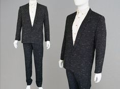 Vintage 90s Mens Two Piece Suit Jacket & Trousers by ZeusVintage