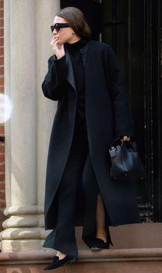 Get Ashley Olsen's Minimal Black-On-Black Look