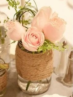 MASON JARS BURLAP Wedding Decorations Cottage Decor Bride Groom Party Table Rustic Farm House Shabby chic ocean Glass Decoration kim-hope-you-re-ready-to-plan-this-for-me Chic Wedding, Summer Wedding, Our Wedding, Trendy Wedding, Wedding Jars, Wedding Reception, Reception Table, Wedding Rustic, Wedding Tables