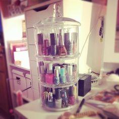 Nail polish storage idea