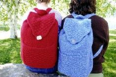 Cabin Fever 703 Felted Knapsack pattern available at Country Yarns. Crochet Shoes, Knit Or Crochet, Crocheting Patterns, Cabin Fever, Yarns, Fashion Backpack, Country, Knitting, Projects