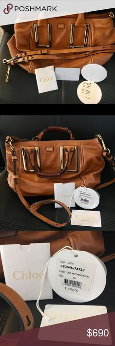 Authentic Chloe Ethel Satchel handbag AUTHENTIC GORGEOUS Chloe leather handbag! Gently used and in great condition. Includes leather adjustable straps that can be removed if you like. Hard to part with this beautiful bag, but I want a new one now :) Includes original price tag and authenticity card. Perfect medium size! Chloe Bags Crossbody Bags