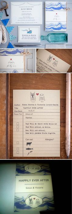 Amazing stationary- particularly the RSVP card