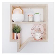 Kmart Australia geo copper candle holder on the sexiest shelfies on instagram on domino.com