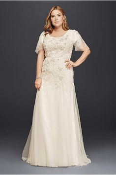 Fancy David us Bridal has beautiful plus size wedding dresses that e in a variety of sizes u