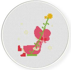 Charts Club Members Only: Sunbonnet Girl Swing Cross Stitch Pattern