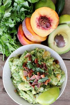 Grilled Peach, Jalapeño, and Bacon Guacamole