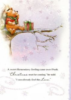 Winnie The Pooh Christmas, Cute Winnie The Pooh, Winnie The Pooh Quotes, Winnie The Pooh Friends, Merry Little Christmas, Disney Christmas, Christmas Art, Christmas Ideas, Pooh Bear