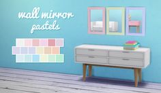 {Sims 4} Wall mirror • 18 colors • Standalone • EA mesh Download Simfileshare