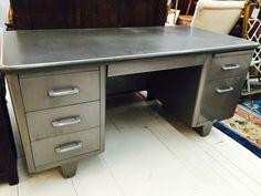 Vintage Steel Tanker Desk ASE by GreyhoundAntiques on Etsy